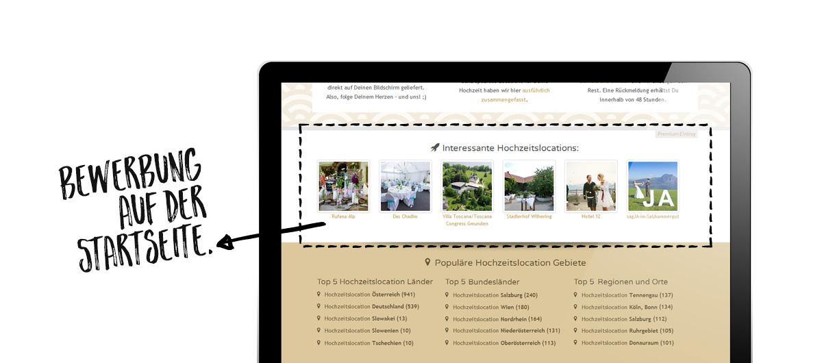 Präsentation von Premiumkunden auf eigenes reservierten Flächen